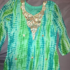 Tie Dye Indian Salwar Kameez/ Churidar